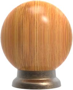 Pomo madera ref.: 204 con base